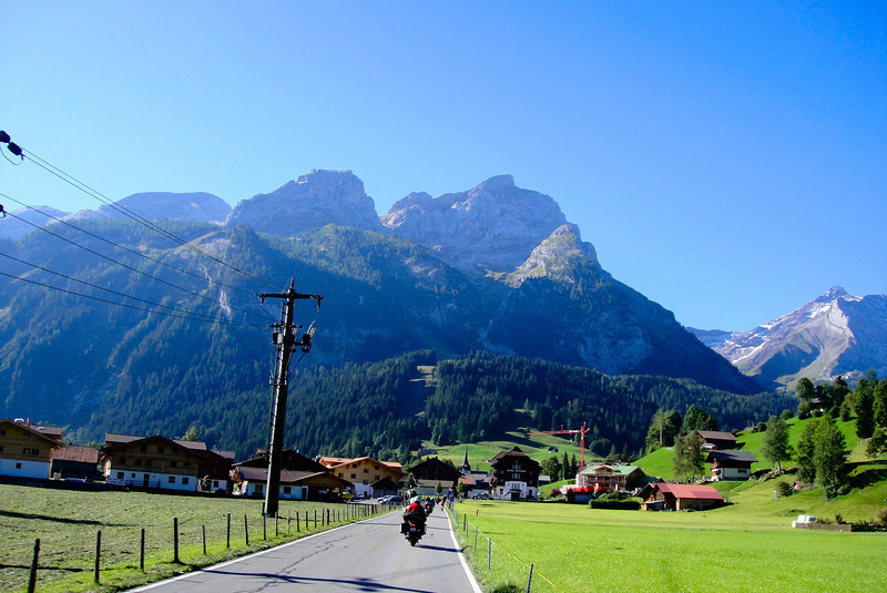 The road to Gstaad Switzerland