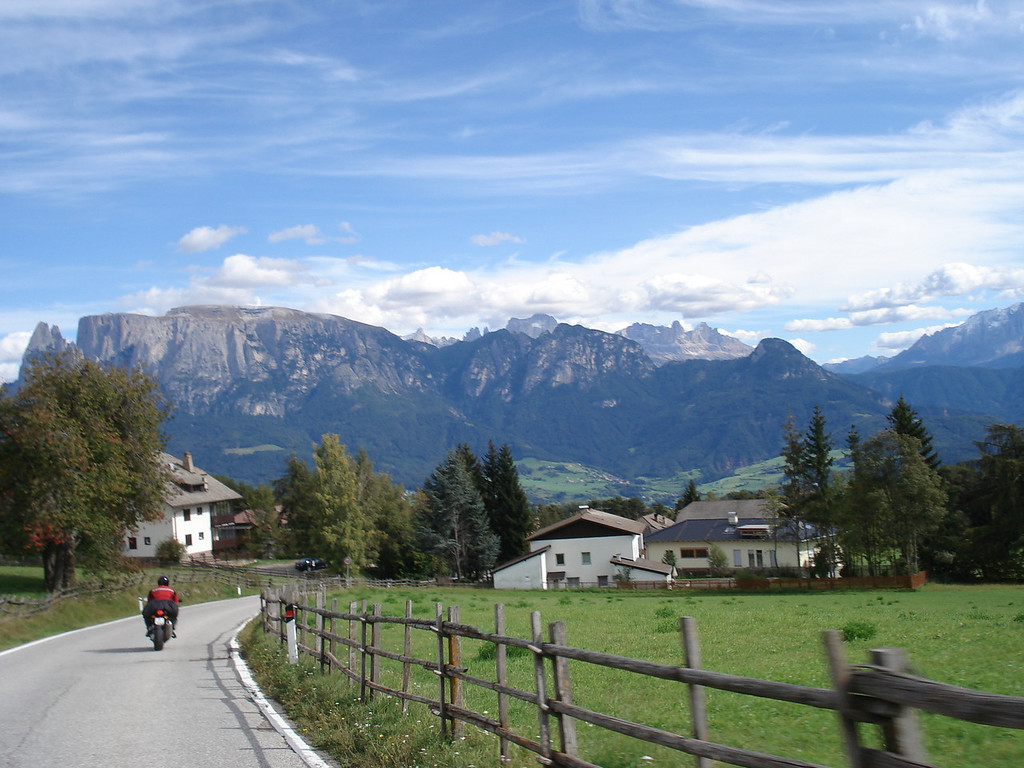 First View of the Dolomites - near Val Gardena Italy