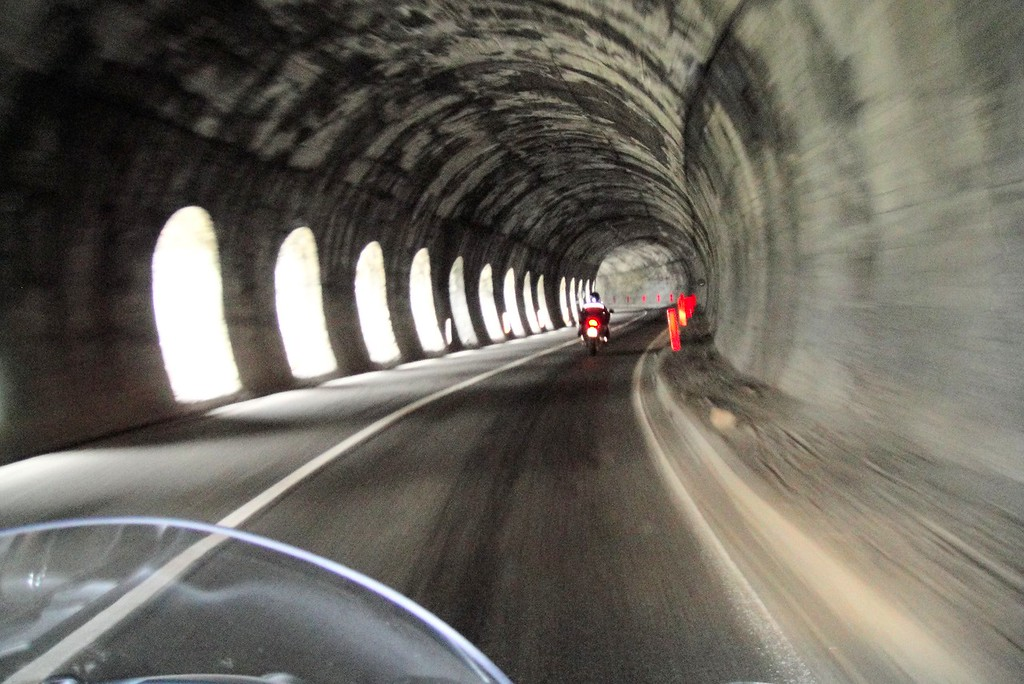 Typical Italian tunnel - fortunately no cows inside