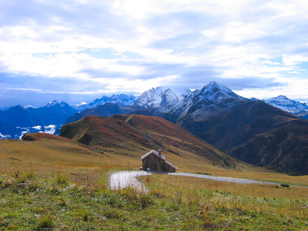 Here's another great view from the road up to Passo di Giau in the Dolomites, Italy