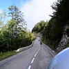 Heading up the Col du Telegraphe - France