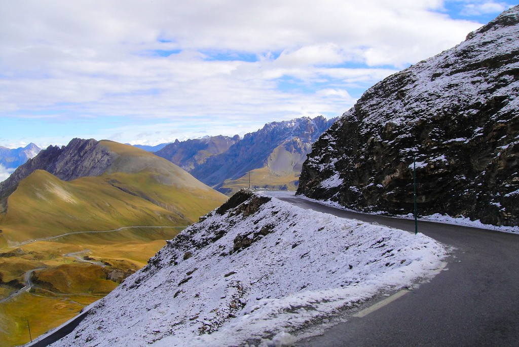 Probably don't want to lean the bike over too far here - Col du Galiber France