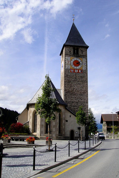 A pretty Swiss village church