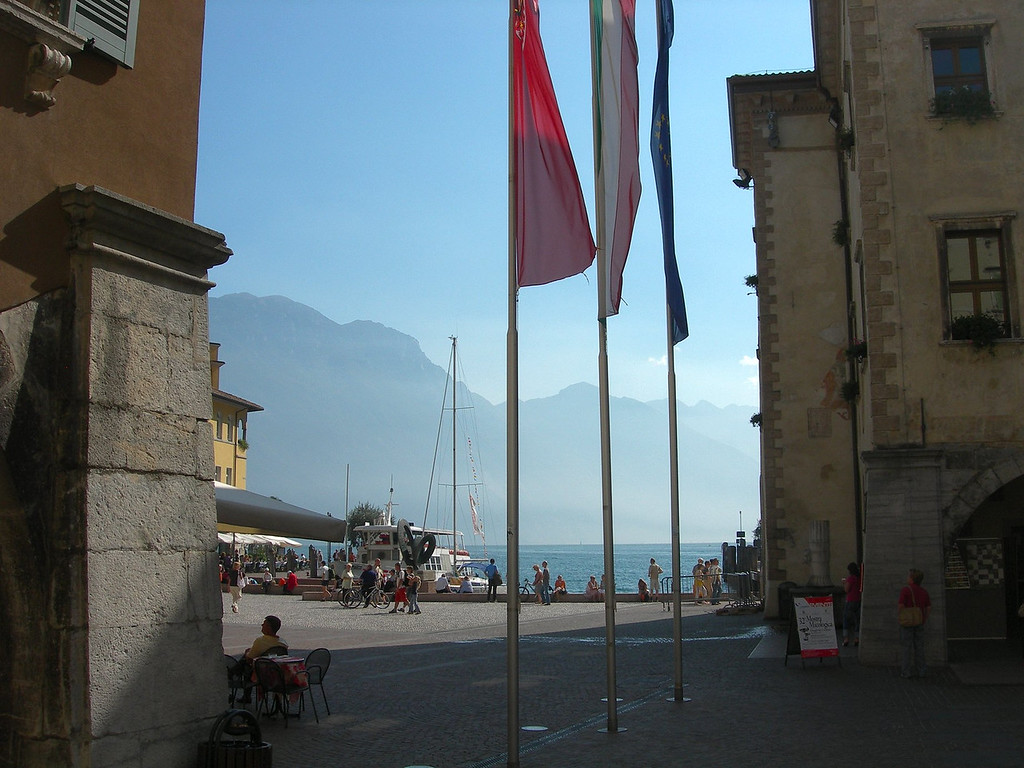 A very pleasant place indeed to while the day while enjoying a gelato, Riva del Garda, Italy