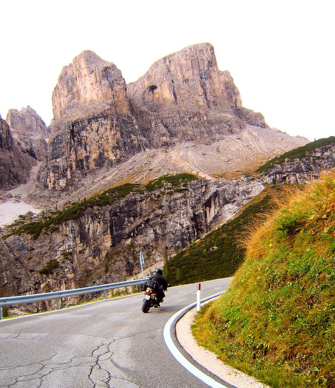 Passo di Sella - another part of the figure 8 passes near Cortina - Dolomites, Italy