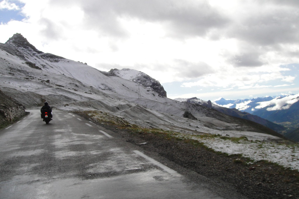 Snow, must be getting higher as we climb from the south - Col du Galiber France