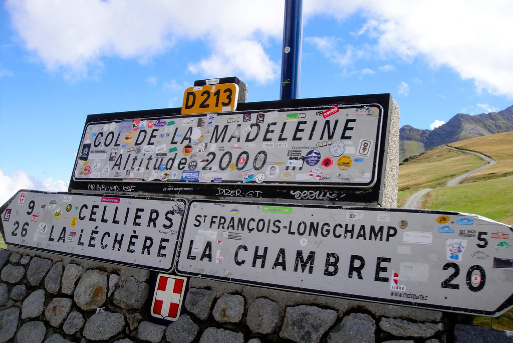 Looks like we topped another one - Col de la Madeleine France