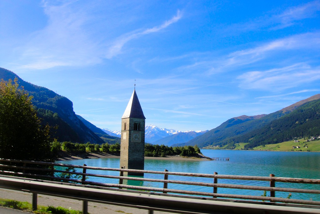 Another view of the submerged church - Reschensee Italy