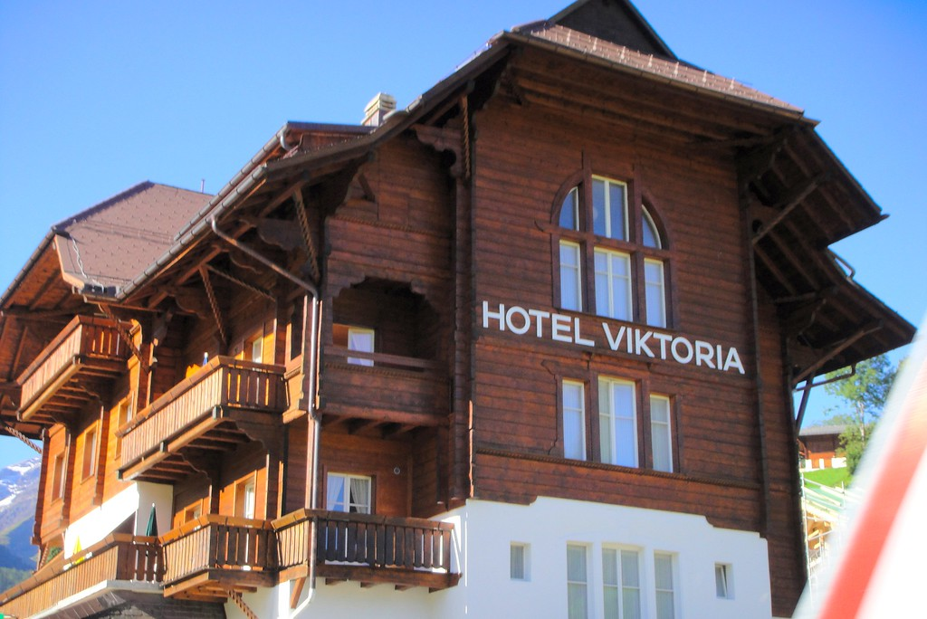 Classic Swiss Alpine Contruction - Hotel Viktoria on the outskirts of Gstaad Swtizerland