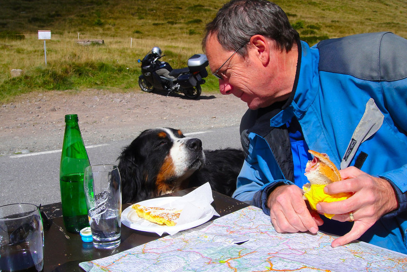 A meeting of the minds concerning the next set of passes to ride - Passo di Vivione Italy