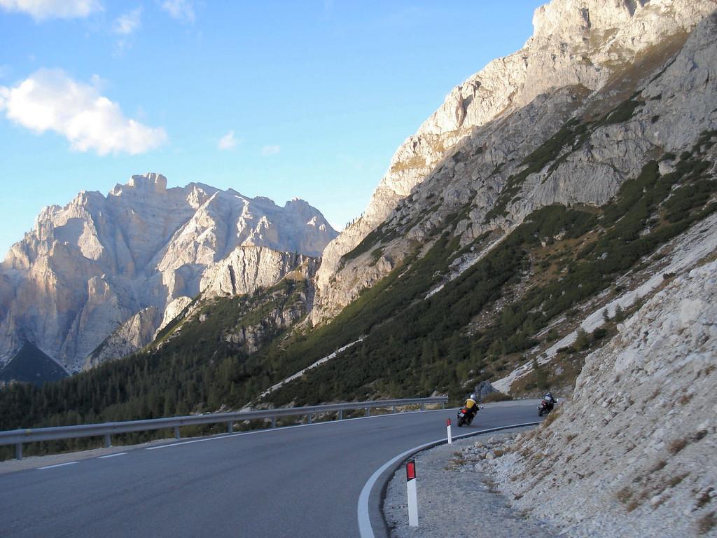 Passo di Gardena - part of the figure 8 near Cortina in the Dolomites, Italy