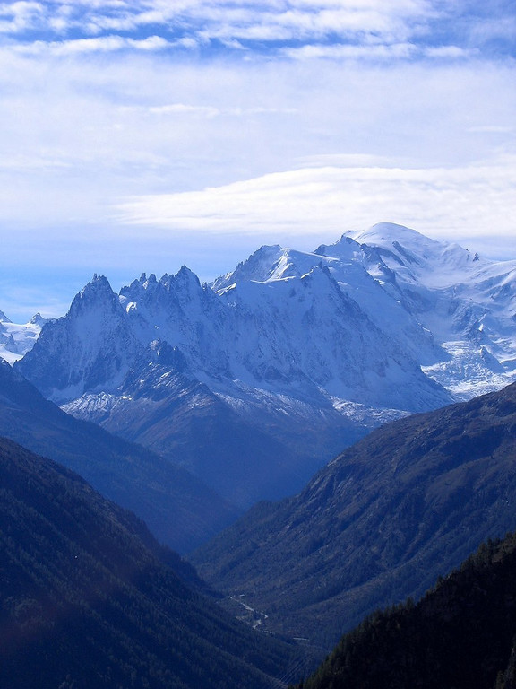 This is the actual view of Mount Blanc from the saddle as we descend the lake Emossan road, simply spectacular