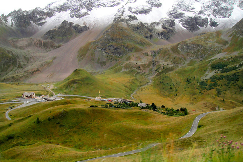 Looking down as we climb from the south - Col du Galiber France