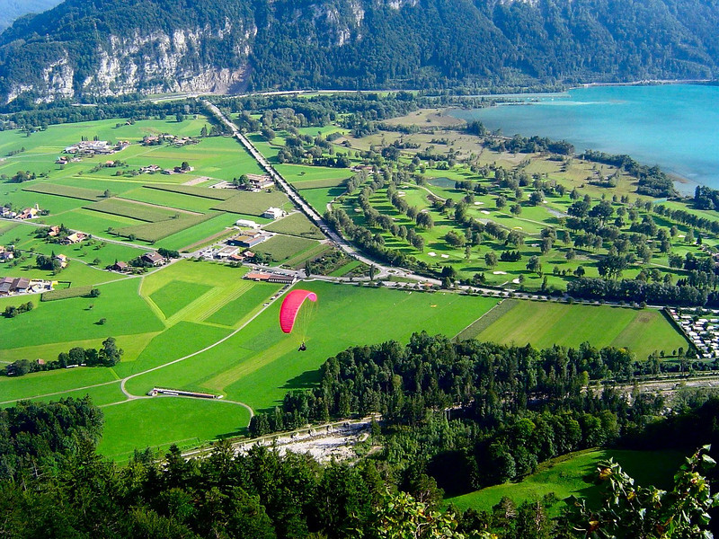 Beatenberg is a paragliding Mecca overlooking Interlaken Switzerland