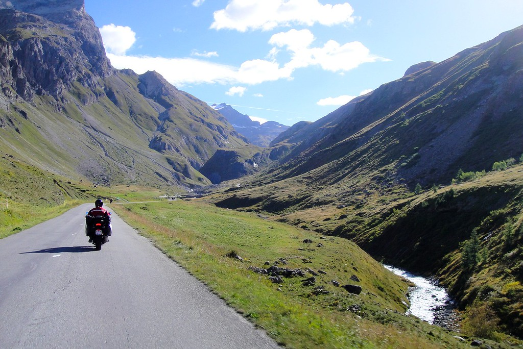 Starting up the north side of the Col de l'seran - France, #2 highest paved pass in the Alps