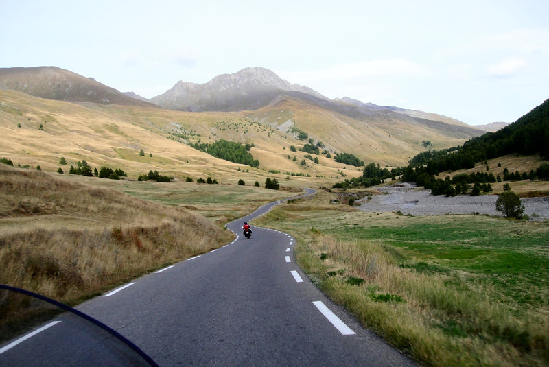 The west side approach road to the Col Agnel - #4 highest pass on France Italy border