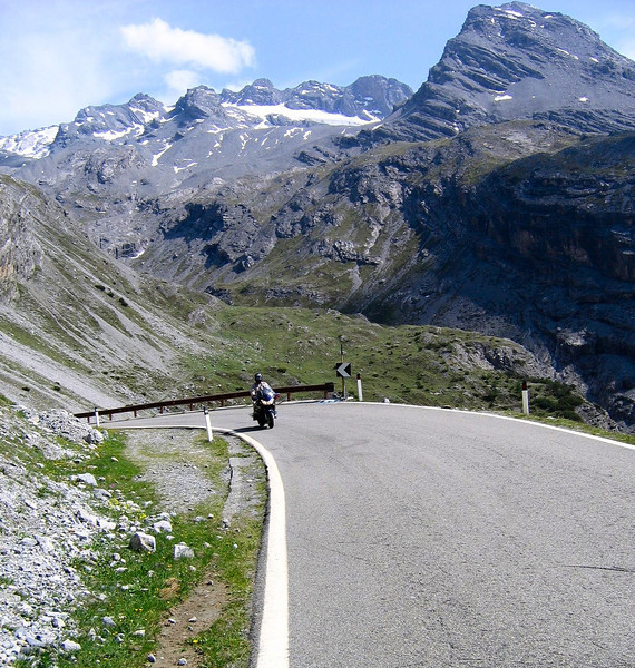Heading up the Petite St. Bernard Pass - border of France and Italy