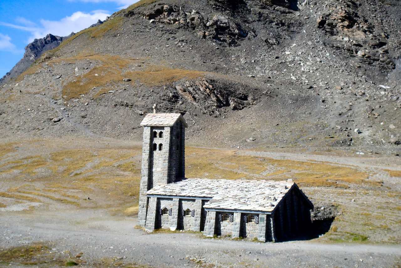I bet this chapel has seen some weather - Col de l'seran - France