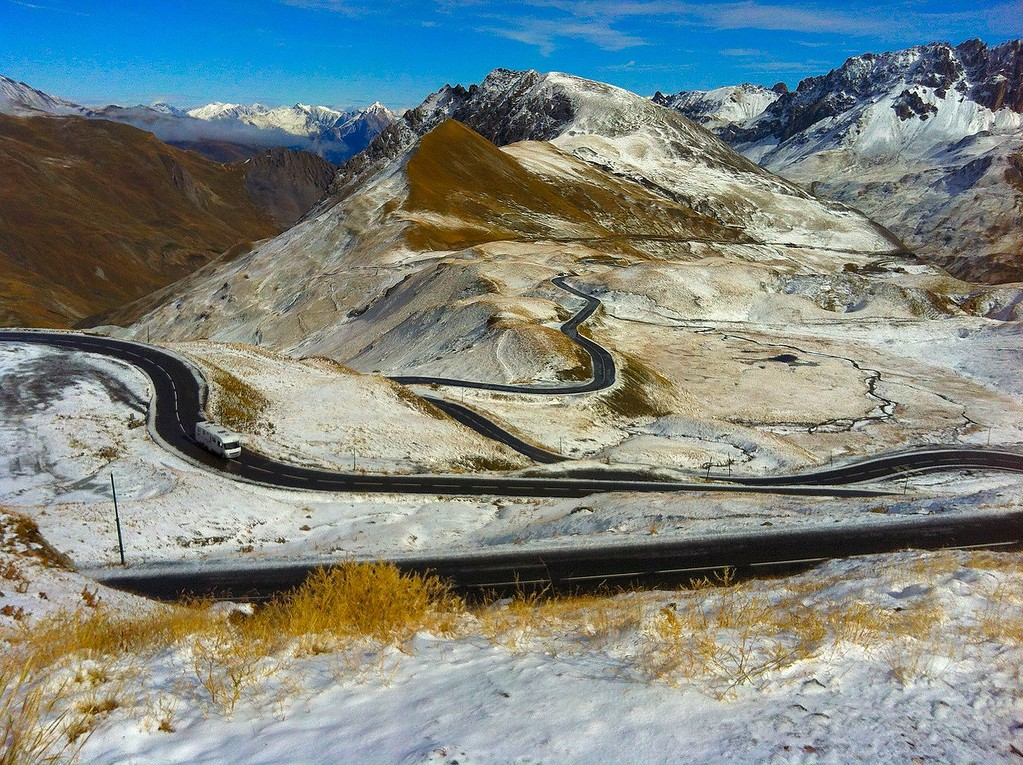Another view of the Col du Galibier road - France