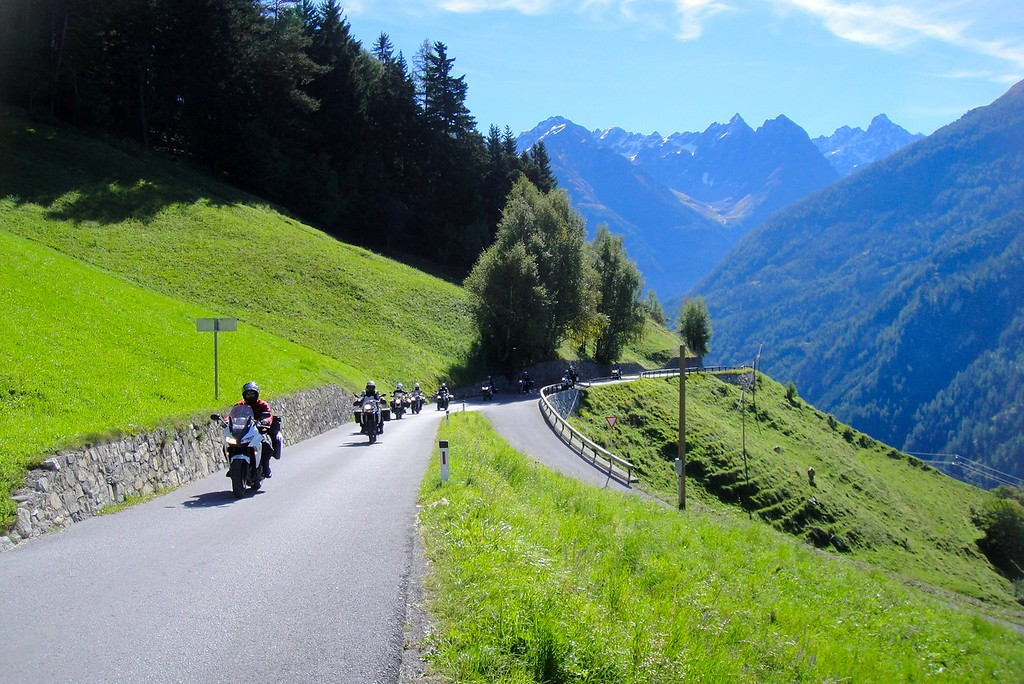 Nearing the top of the Piller Hohe (pass) in Austria