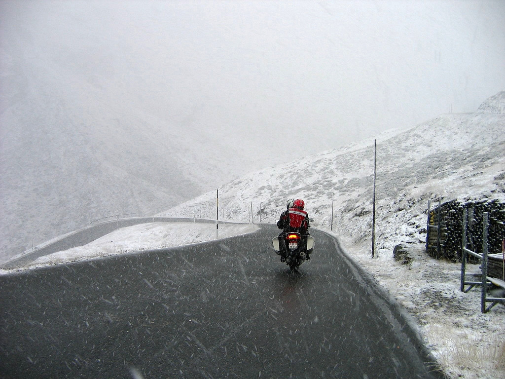 Snow on the Umbrail Pass #10 - this can happen even in the middle of July - Switzerland