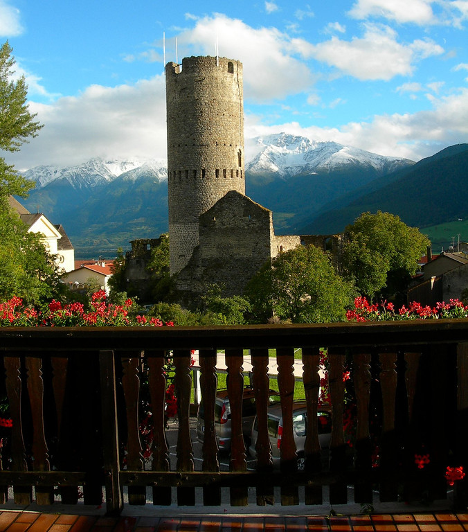 View from our hotel in Mals Italy