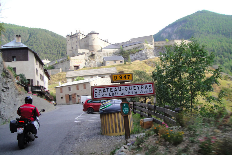 Passing through on our way to the Col Agnel - Chateau Queyras France