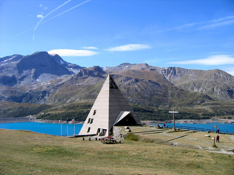 We were a little disappointed to find no egyptians in the pyramid museum - Lac du Mont Cenis France