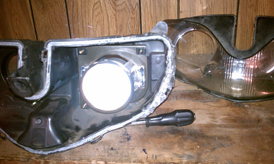 I used a donor headlight assembly from a friend (THANKS RUSSELL) who had the same problem a year ago.