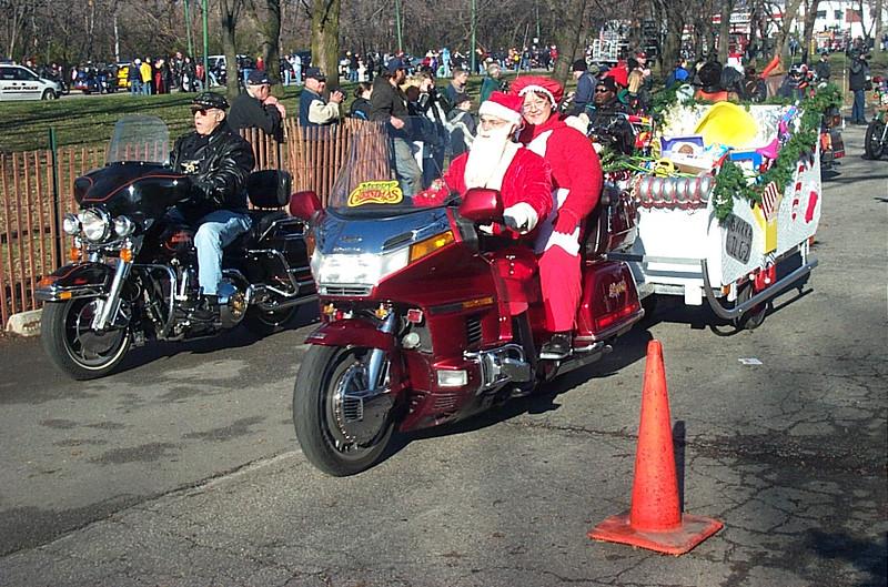 Santa Clause with sleigh