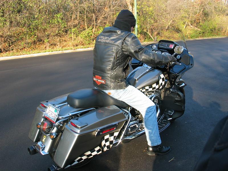 Custom paintjob on this Harley