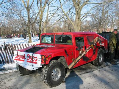 Red USMC Hummer