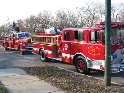 Historic fire trucks