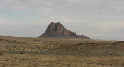 """nov 6, 2007. 7:50am, on US 491 (old US 666 - """"the Devil's Highway""""), north of Gallup, NM heading for Shiprock."""