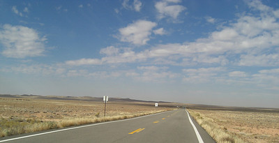 nov 6, 2007, @ 12 noon, Ute Mountain Reservation, Colorado, on CO 41, headed west to Bluff, Utah.