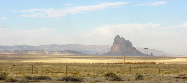 nov 6, 2007. 8:30am, View of Shiprock, a sacred mountain of the Navaho.  on US 64 west of Shiprock, NM.
