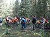 We were way out of our league on the Osha Trail.  Two fat KLRs amidst ten lightweight dirtbikes.