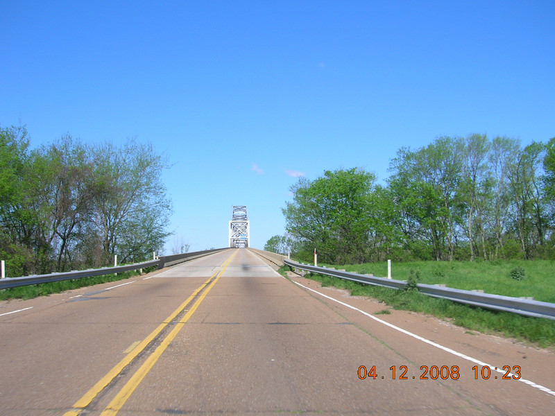 Miss River bridge on US49 going into AR.