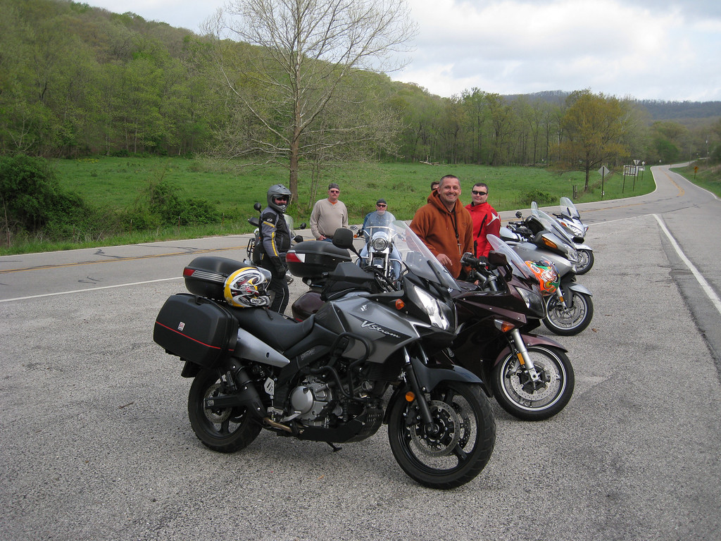 Happy motorcycle enthusiasts.