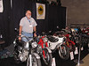 Roger White with his 1966 Honda CL77 and 1964 Honda CB77