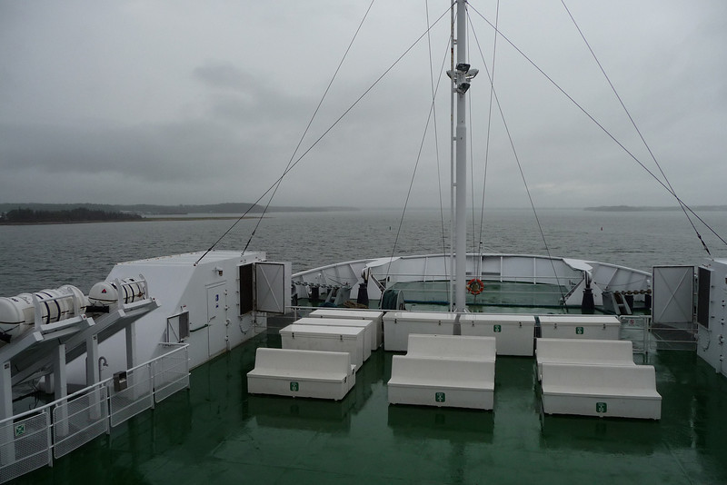 Soggy afternoon on the ferry...was about a 75 minute ride.