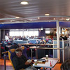 Central cabin area of the ferry...good food, a bar (cheap beer), mini-casino, mini movie theaters and a duty free shop...