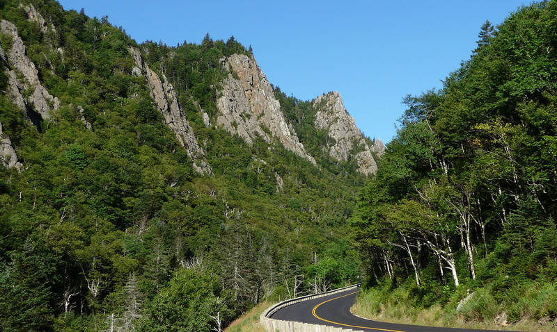 Beautiful, freshly paved road for my morning ride...and clear skies.  This is Dixville Notch, NH in the NW corner of the state...not far from Quebec.
