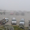 The parking lot at the summit of Mt. Washington when we arrived...fogged in!