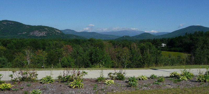 Wide view of Mt. Washington area from the South...Mt. Washington in the far distance in the clouds.