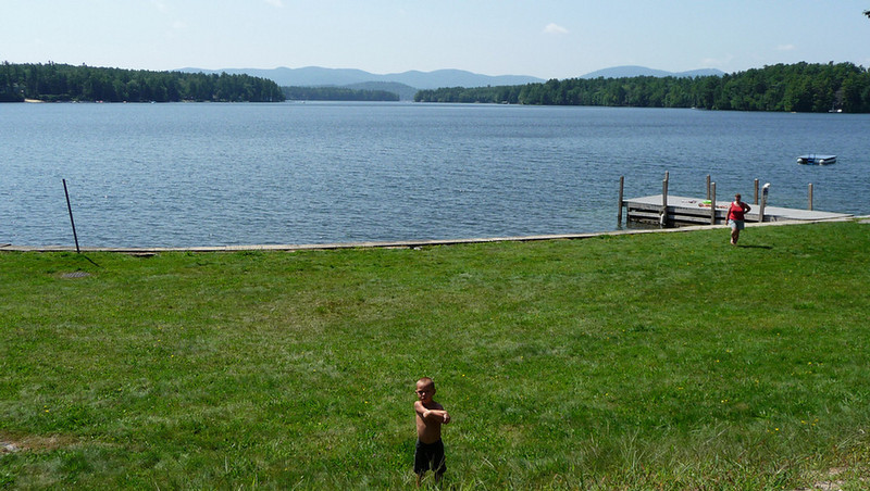 Another view of Lake W...I'm not typing it all out again!  I think that boy was hoping for a ride!  Who can blame him...