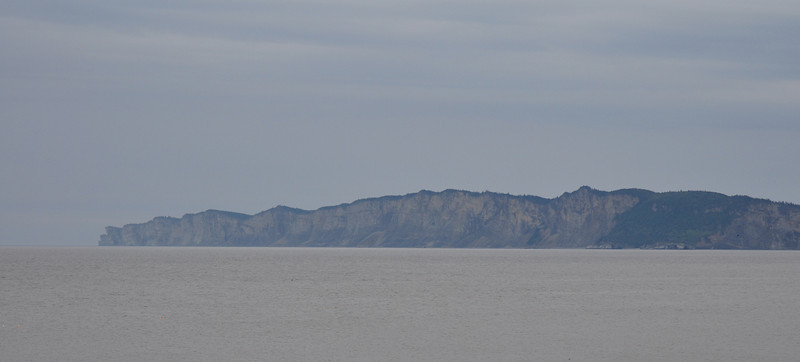 Some of the Eastern coastline of the Gaspe...