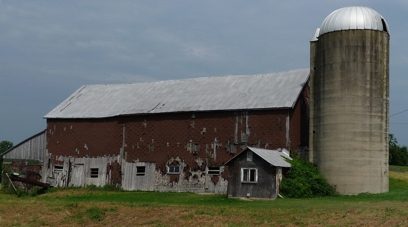One of many abandoned or detiorating barns that I came across, this one in upstate NY.