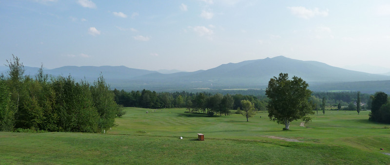 Tuesday afternoon in Eastern VT...great golf course view here...no time to play a round!