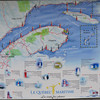 Map of the Gaspe Peninsula...I did the entire loop around the point, ending up in New Brunswick.  I strongly recommend if you get up to this area that you tour part or all of the Gaspe.  Quite different from Nova Scotia.  I would like to have cut across the peninsula but didn't really have to time to do both.  If you zoom in on this photo, you can read quite a bit of it...if you read French.